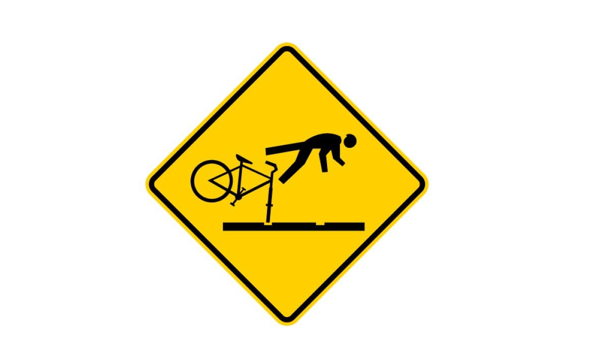 Warning Road Sign Warning-Sign-Falling-Cyclist